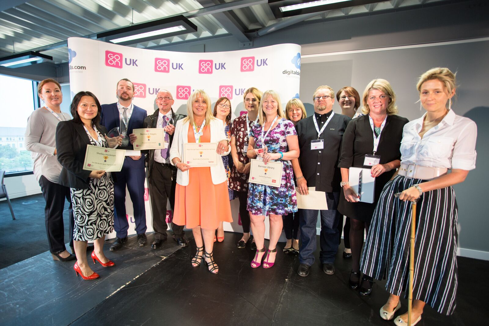 Go ON North West awards winners July 2015
